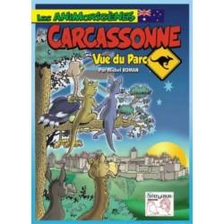 Carcassonne, Vue du parc,...